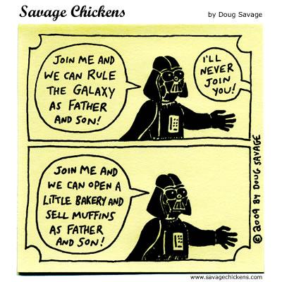Savage Chickens - Vader Tries Again