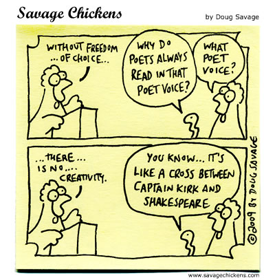 Savage Chickens - Poet Voice