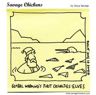 Savage Chickens - Trouble at the North Pole