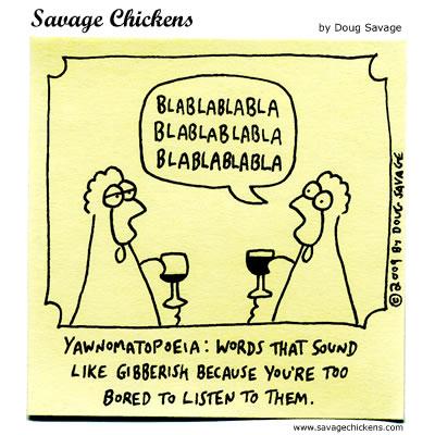 Savage Chickens - Linguistics Lesson