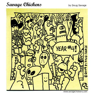 Savage Chickens - Fourth Anniversary!