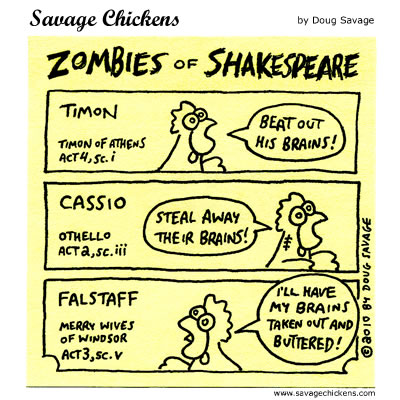 Savage Chickens - Zombies of Shakespeare