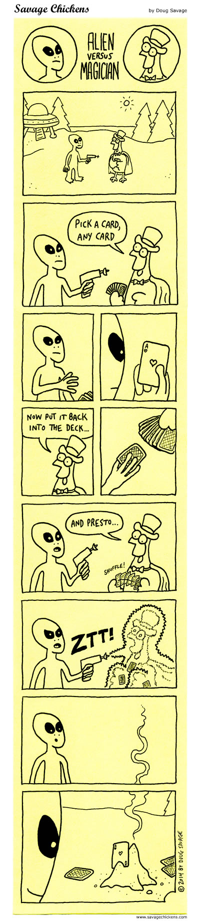 Alien vs Magician