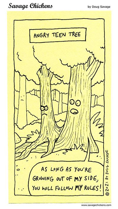 Angry Teen Tree