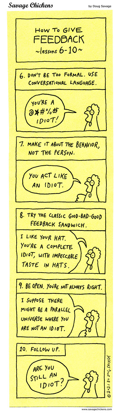 How To Give Feedback 6-10
