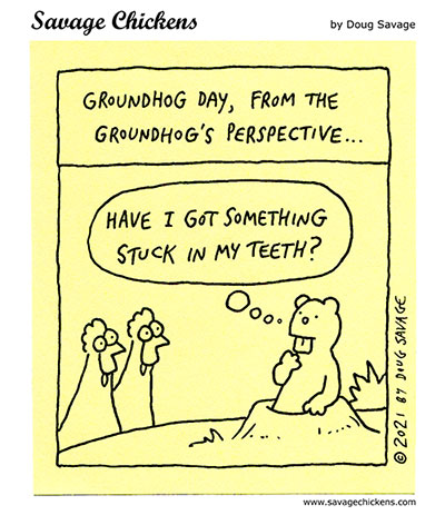 A Strange Day for Groundhogs