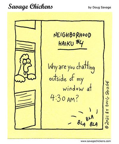 Neighborhood Haiku #4