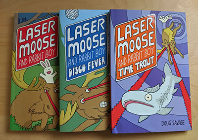 Laser Moose and Rabbit Boy books